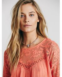 Free People - Pink Womens Fp One Fly Away Tunic - Lyst