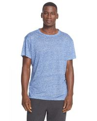 T By Alexander Wang | Blue Feeder Striped Linen T-Shirt for Men | Lyst