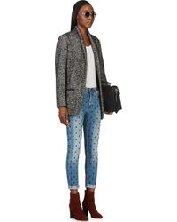 Étoile Isabel Marant | Black Xavier Bouclé Wool and Alpaca blend Coat | Lyst