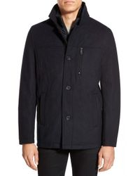 Kenneth Cole | Blue Car Coat for Men | Lyst