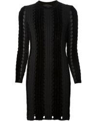 Alexander Wang - Black Open Knit Dress - Lyst