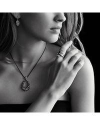 David Yurman - Blue Midnight Mélange Large Drop Pendant Necklace With Diamonds - Lyst