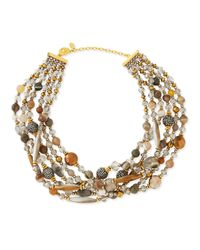 Jose & Maria Barrera - Multicolor Chunky Multi-Stone Necklace - Lyst
