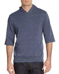 Alternative Apparel   Blue Three-quarter Sleeve Hoodie for Men   Lyst