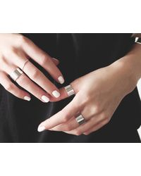Vrai & Oro | Metallic Thick & Thin Ring Set | Lyst
