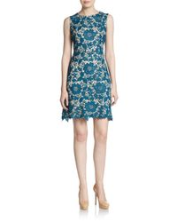 Eci | Blue Floral Lace Dress | Lyst