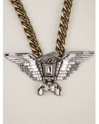 Lanvin - Metallic Eagle Necklace - Lyst