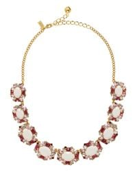 kate spade new york | Pink Garden Bed Gems Collar Necklace | Lyst