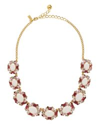 kate spade new york - Pink Garden Bed Gems Collar Necklace - Lyst