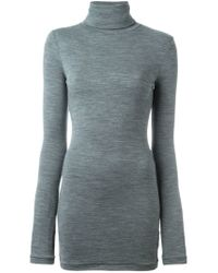 JOSEPH - Gray Funnel Neck Sweater - Lyst
