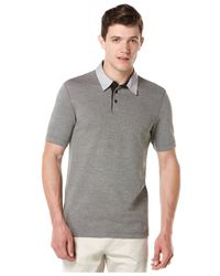 Perry Ellis | Gray Big And Tall Oxford Contrast-collar Polo Shirt for Men | Lyst