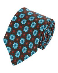 Kiton - Blue Medallion Neck Tie-Brown for Men - Lyst