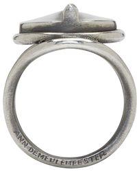 Ann Demeulemeester | Metallic Silver Sundial Ring for Men | Lyst