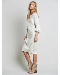 Free People | White Sunshine Sweaterdress | Lyst