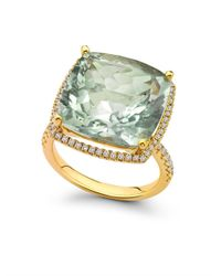 Kiki McDonough - Green Diamond Amethyst Gold Ring - Lyst