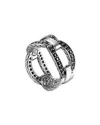John Hardy | Metallic Classic Chain Link Black Sapphire Ring | Lyst