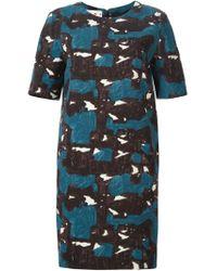 Marni - Blue 'break' Printed Dress - Lyst