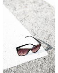 Mango - Black Retro Style Sunglasses - Lyst