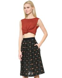 Rachel Comey - Brown Argento Crop Top - Rust - Lyst