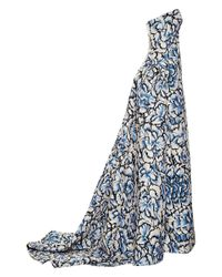 Carolina Herrera | White Floral Printed Ball Gown | Lyst