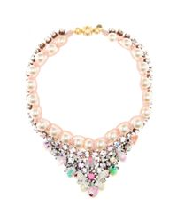 Shourouk | Multicolor Theresa Sequins Embellished Necklace | Lyst