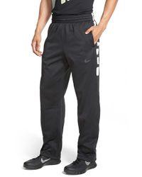 Nike - Black 'elite Stripe' Therma-fit Athletic Pants for Men - Lyst