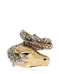 Roberto Cavalli | Metallic Arion Ring with Swarovski Crystals | Lyst