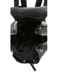 DKNY - Leather Backpack - Black - Lyst