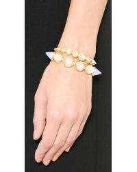Eddie Borgo - Metallic Cone Bracelet Opal Glass - Lyst