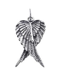 Aeravida | Metallic Heart Shape Angel Wing/wings .925 Silver Pendant | Lyst
