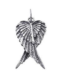 Aeravida - Metallic Heart Shape Angel Wing/wings .925 Silver Pendant - Lyst
