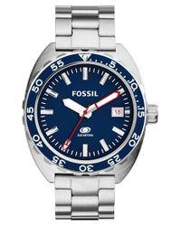Fossil - Blue 'breaker' Watch for Men - Lyst