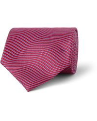 Charvet | Purple Striped Silk-Satin Tie for Men | Lyst