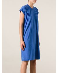 Jil Sander | Blue T-Shirt Dress | Lyst