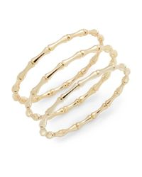 Saks Fifth Avenue | Metallic Bamboo Bangle Bracelet Set/gold | Lyst