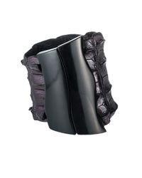 Nada Sawaya | Black J16 - Crocodile Cuff With Magnetic Closure - Metallic Bordo | Lyst