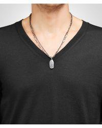Bottega Veneta - Metallic Pendant In Silver With Intrecciato Detail for Men - Lyst