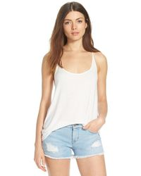 Betro Simone - White Mixed Media Racerback Tank - Lyst