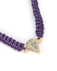 Juicy Couture | Purple Pave Diamond Macrame Bracelet | Lyst