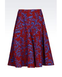 Emporio Armani | Blue 3/4 Length Skirt | Lyst