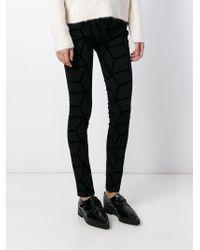 Avelon - Black Tonal Print Jeans - Lyst