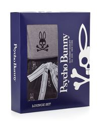 Psycho Bunny - Gray Two-piece Loungewear Gift Set for Men - Lyst