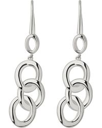Links of London   Metallic Signature Silver Drop Earrings   Lyst