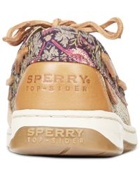 Sperry Top-Sider | Brown Women's Bluefish Linen Oat Boat Shoes | Lyst