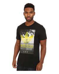 Adidas Originals   Black Court Trefoil Tee for Men   Lyst