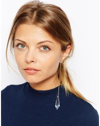 ASOS - Metallic Ear Cuff With Faceted Bead Drop - Lyst