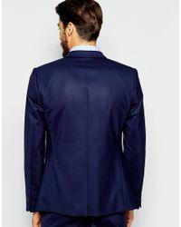 Noak | Blue Suit Jacket In Super Skinny Fit for Men | Lyst