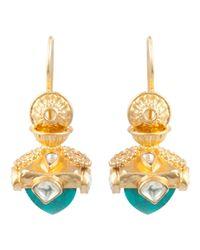 Kastur Jewels - Blue Heritage Turquoise Dome Earrings - Lyst
