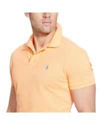 Polo Ralph Lauren - Orange Custom-fit Mesh Polo Shirt for Men - Lyst
