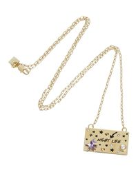 MFP MariaFrancescaPepe - Metallic Starry Night Life 23Kt Gold Plated Necklace - Lyst